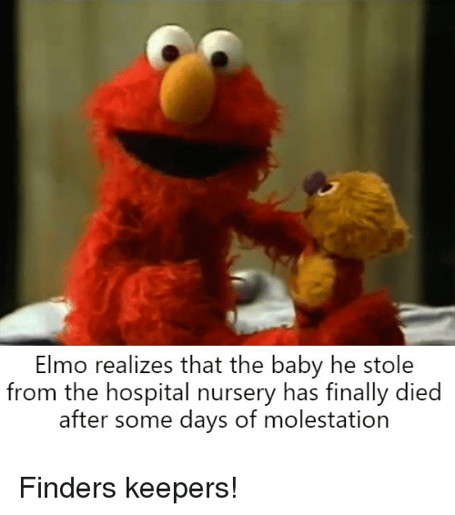 Elmo Hospital And Bertstrips Realizes That The Baby He Stole From