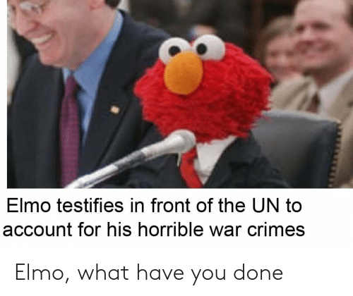 Elmo Testifies In Front Of The Un To Account For His