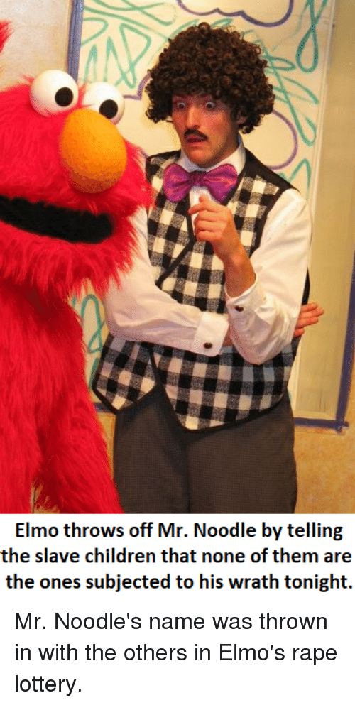 elmo throws off mr noodle by telling the slave children that none of