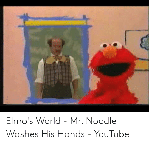 Elmo S World Mr Noodle Washes His Hands Youtube