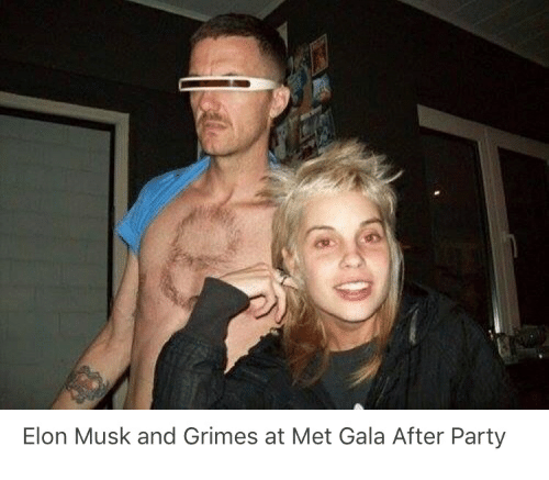 Elon Musk and Grimes at Met Gala After Party | Party Meme on