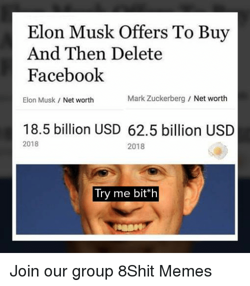 Elon Musk Offers to Buy and Then Delete Facebook Elon