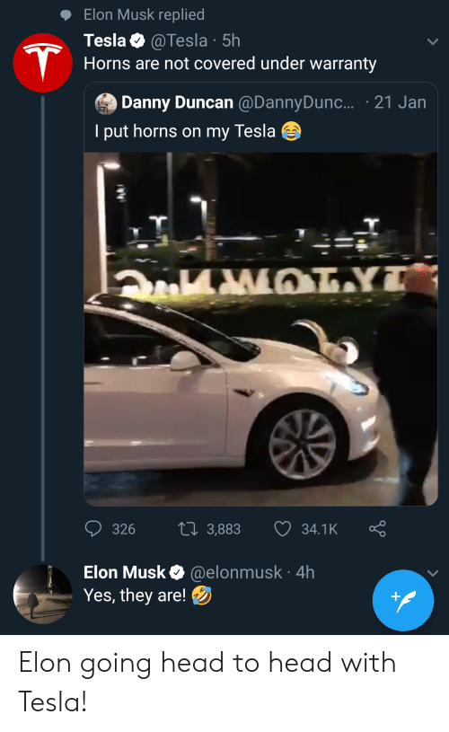 Elon Musk Replied Tesla 5h Horns Are Not Covered Under