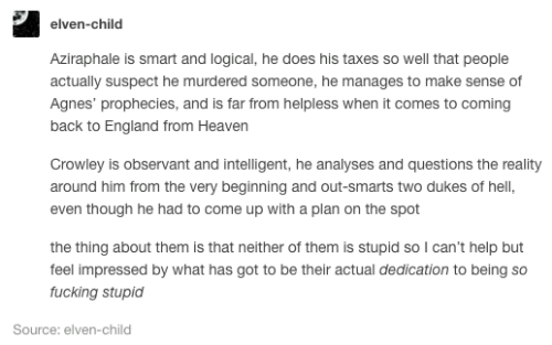 Elven-Child Aziraphale Is Smart and Logical He Does His Taxes So