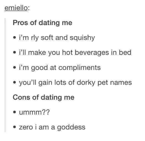 Pros and cons of dating