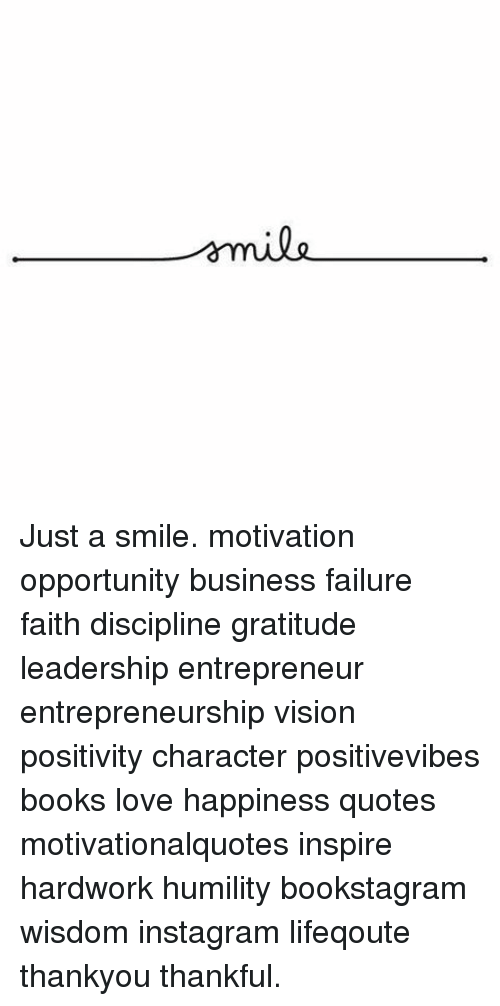 emile just a smile motivation opportunity business failure faith