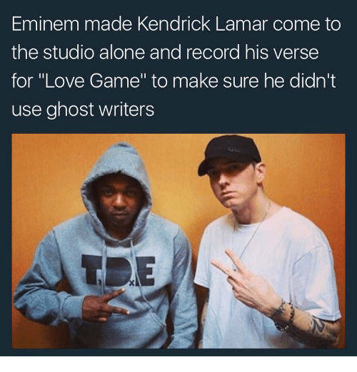 eminem made kendrick lamar come to the studio alone and 11646149 eminem made kendrick lamar come to the studio alone and record his