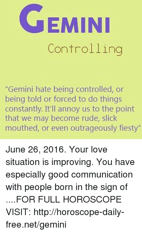 EMINI Controlling Gemini Hate Being Controlled or Being Told