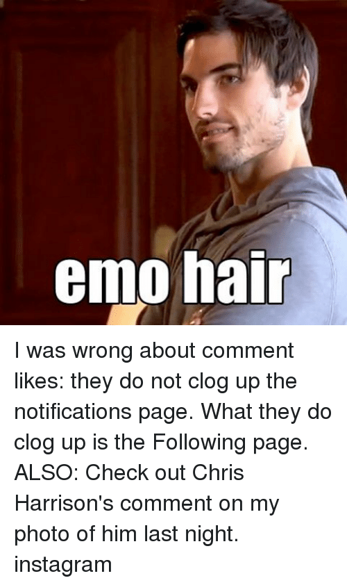 Emo Hair I Was Wrong About Comment Likes They Do Not Clog Up The