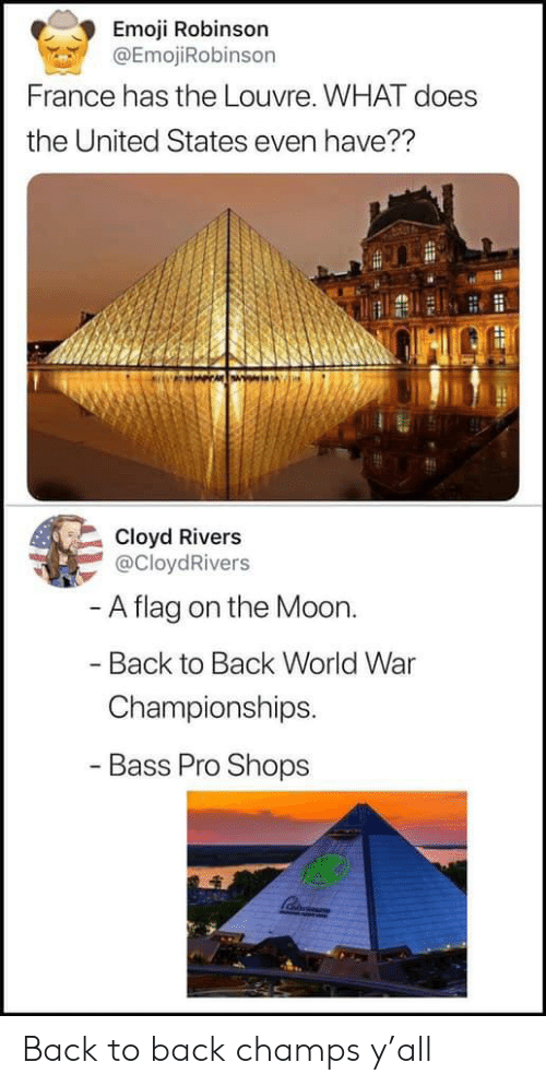 Emoji Robinson France Has the Louvre WHAT Does the United States
