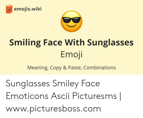 Emojiswiki Smiling Face With Sunglasses Emoji Meaning Copy & Paste