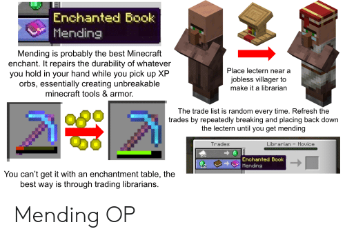 Enchanted Book Mending Mending Is Probably the Best