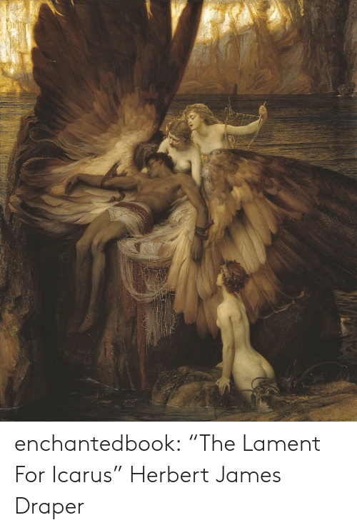 "Tumblr, Blog, and Http: enchantedbook:   ""The Lament For Icarus"" Herbert James Draper"
