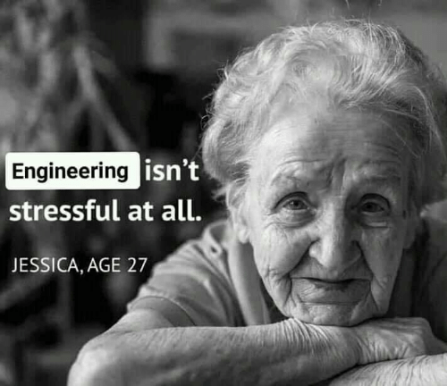 Engineering Isn't Stressful at All JESSICA AGE 27 | Meme on