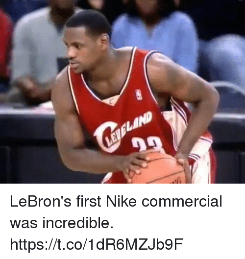 England, Funny, and Nike: ENGLAND LeBron's first Nike commercial was incredible.  https://t.co/1dR6MZJb9F