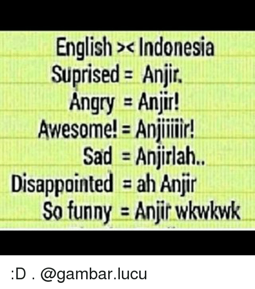 download gambar terlucu  english indonesia suprised anji angry anjin awesome