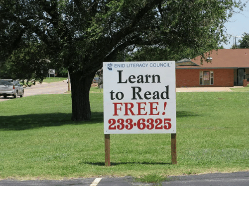ENID LITERACY COUNCIL Learn to Read FREE! 2336325   Free ...