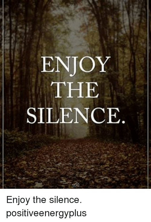 Memes, Silence, and 🤖: ENJOY  THE  SILENCE Enjoy the silence. positiveenergyplus