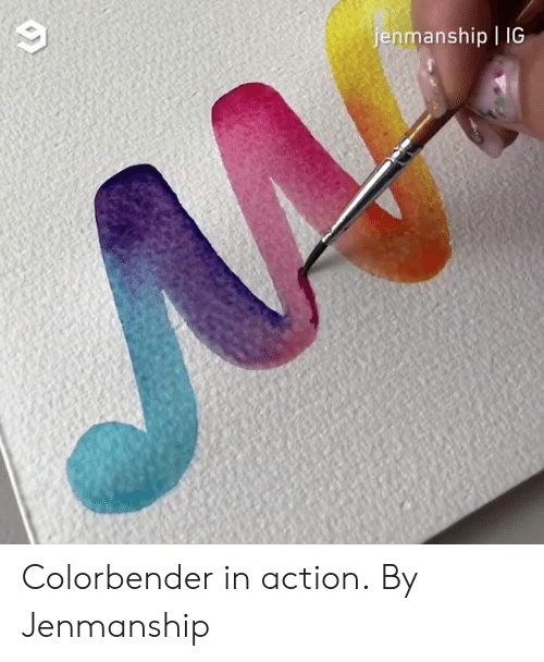 Dank, 🤖, and Action: enmanship | IG Colorbender in action.  By Jenmanship