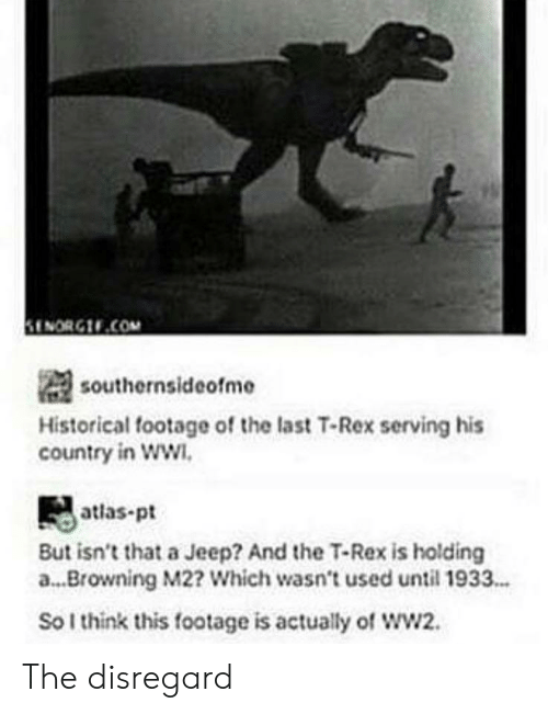 ENORGCOM Southernsideofme Historical Footage of the Last T-Rex