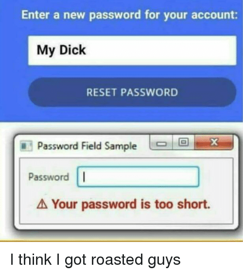 my dick is short