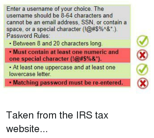 Enter a Username of Your Choice the Username Should Be 8-64