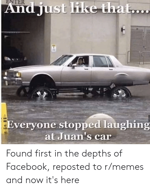 ENTER and Just Like That Everyone Stopped Laughing at Juan's
