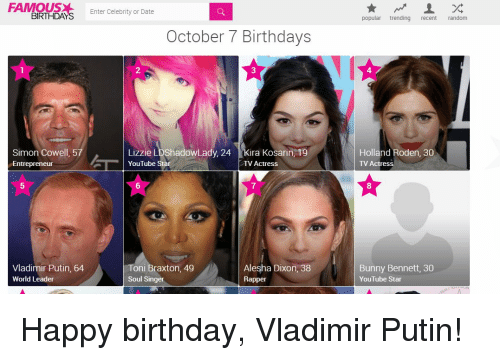 Famous Birthdays (@FamousBirthdays) | Twitter