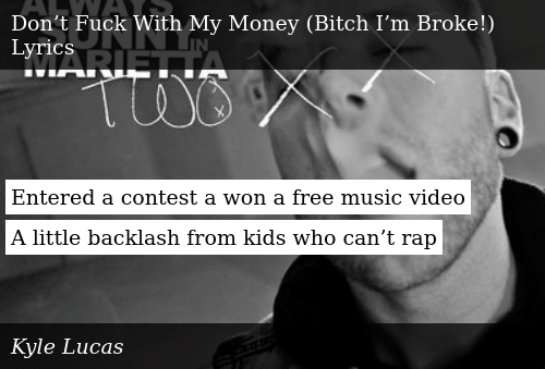 Entered a Contest a Won a Free Music Video a Little Backlash