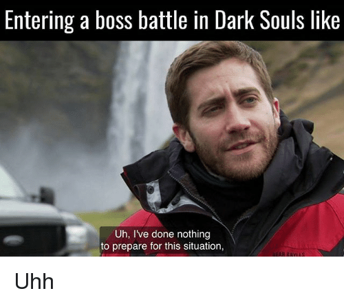 Love Each Other When Two Souls: Entering A Boss Battle In Dark Souls Like Uh I've Done