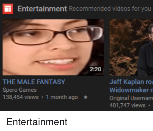 Entertainment Recommended Videos for You 2 20 Jeff Kaplan ...