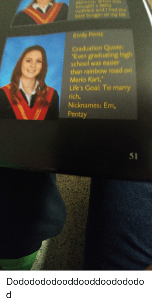 entg graduation quote even graduating h school was easier than