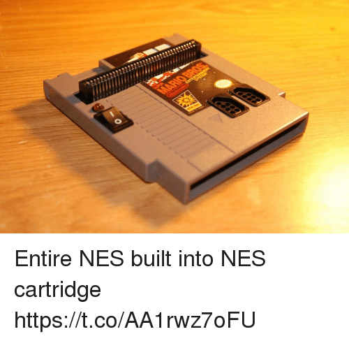Nes,  Cartridge, and Https: Entire NES built into NES cartridge https://t.co/AA1rwz7oFU