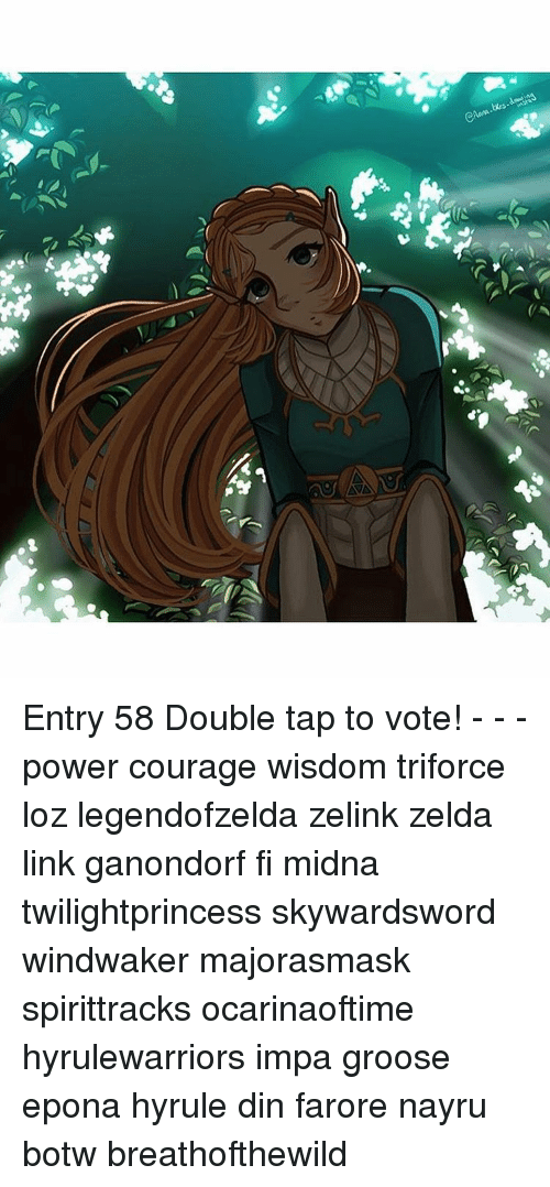 Entry 58 Double Tap To Vote Power Courage Wisdom Triforce Loz