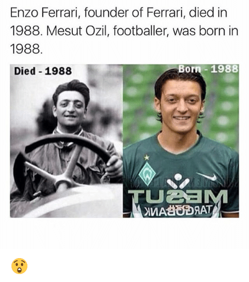 Enzo Ferrari Founder Of Ferrari Died In 1988 Mesut Ozil Footballer