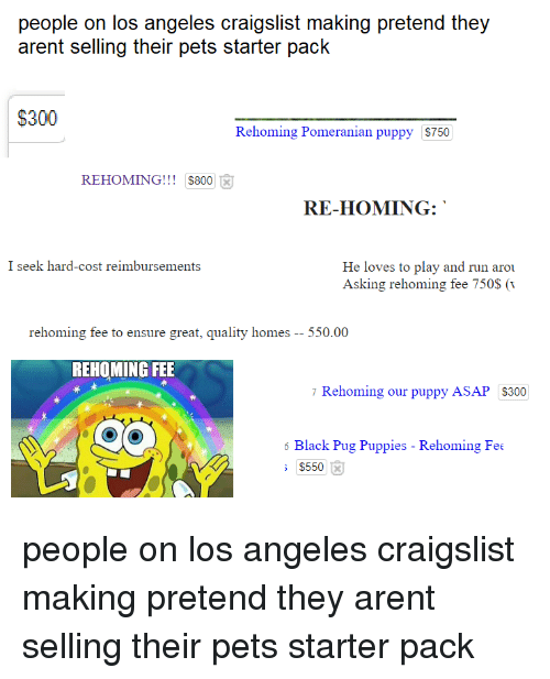Eople on Los Angeles Craigslist Making Preten Arent Selling Their