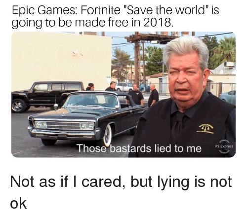 Epic Games Fortnite Save the World Is Going to Be Made Free