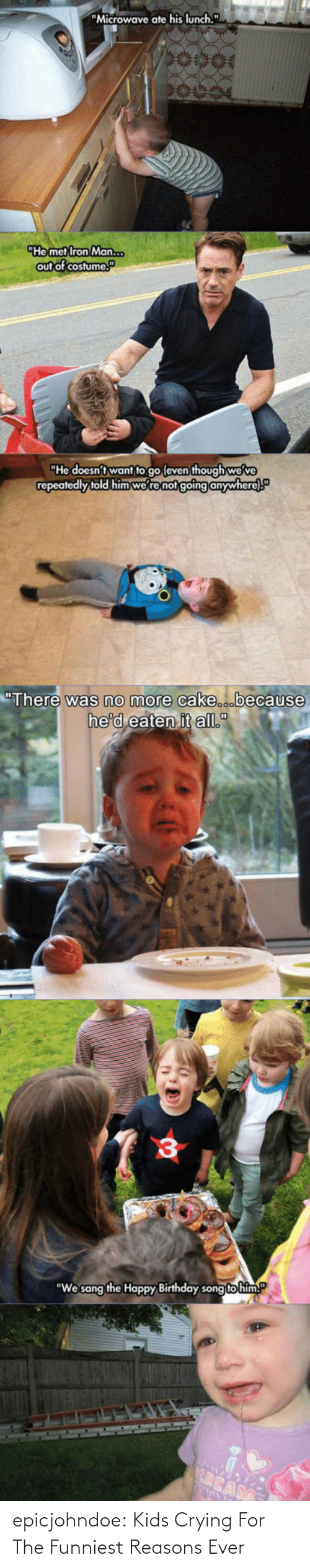 Crying, Tumblr, and Blog: epicjohndoe:  Kids Crying For The Funniest Reasons Ever