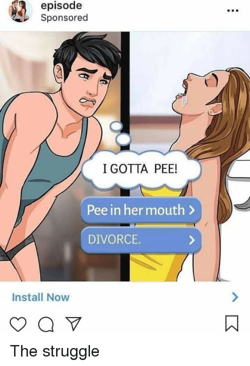 PO and Pee girl man mouth