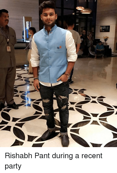 Memes, Party, and 🤖: EQs  C Rishabh Pant during a recent party
