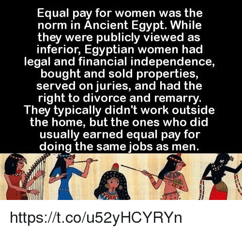 Equal Pay for Women Was the Norm in Ancient Egypt While They