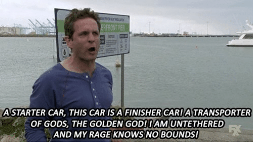 God, Memes, and 🤖: ERFRONT PIER  ASTARTER CAR, THIS CAR IS A FINISHERCARATRANSPORTER  OF GODS, THE GOLDEN GOD!IAMUNTETHERED  AND MY RAGE KNOWS NO BOUNDS!