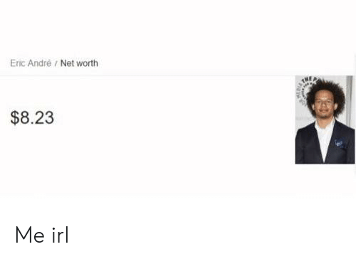 Irl, Me IRL, and Eric Andre: Eric Andre/ Net worth  $8.23 Me irl