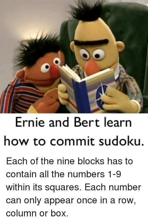 How To Commit Sudoku