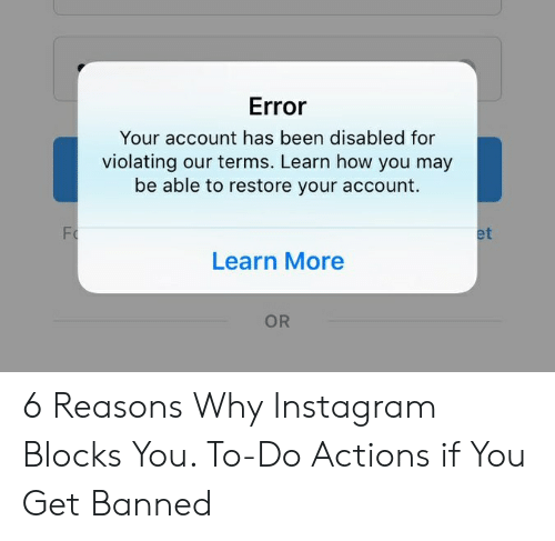 Error Your Account Has Been Disabled for Violating Our Terms Learn