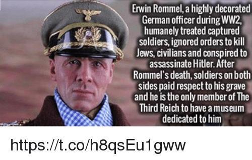 Erwin Rommel a Highly Decorated German Officer During WW2