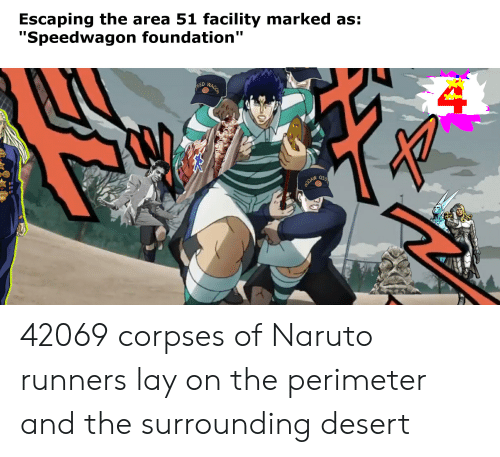 Escaping the Area 51 Facility Marked as Speedwagon