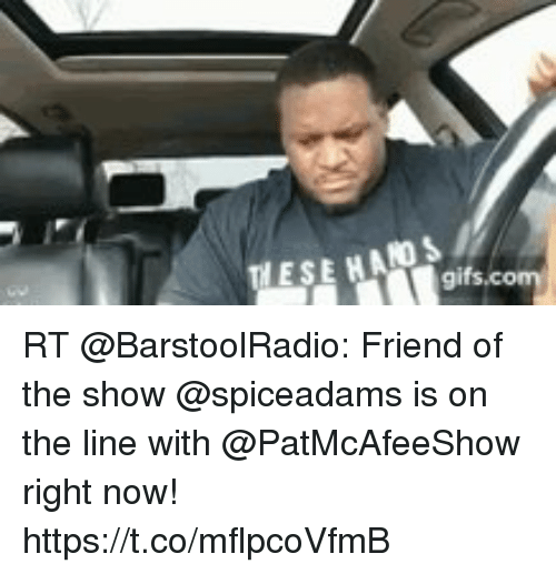 Memes, 🤖, and Friend: ESE HADS RT @BarstoolRadio: Friend of the show @spiceadams is on the line with @PatMcAfeeShow right now! https://t.co/mflpcoVfmB
