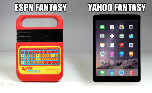 Espn, iTunes, and Game: ESPN FANTASY  YAHOO FANTASY  ELL  Contacts  Game Cent  iTunes Shore  Speak  TEXAS INSTRUMENTS  @bryan haup