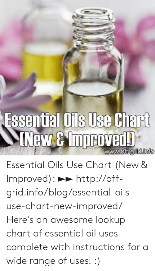 Essential Ois Use Chart New&mproved! Off-Gridinfo Essential